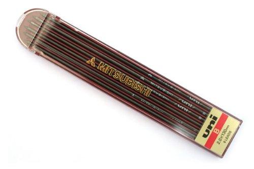 【単価143円・110セット】ミツビシ 三菱鉛筆 UNI ユニホルダー替芯 B 6本入(110セット)