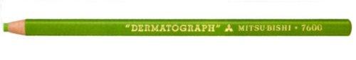 【単価1119円・20セット】ミツビシ 三菱鉛筆 UNI 色鉛筆 油性ダーマートグラフ 7600 5 黄緑(20セット)