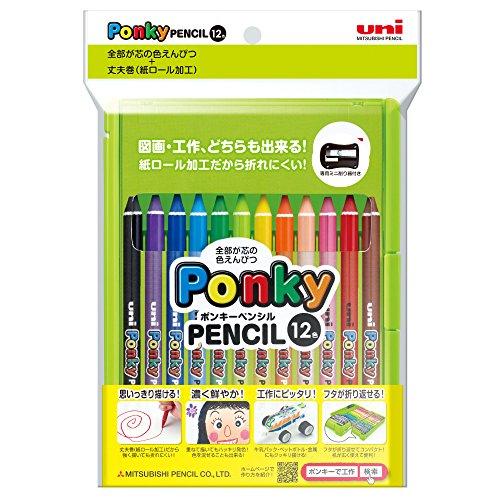 MITSUBISHI PENCIL colored pencil uni-; pop key 12 colors set SEAL限定商品 K800PK12CLT ミツビシ ポンキーペンシル 12色セット ユニ 1269円×10セット UNI 三菱鉛筆 色鉛筆 10セット ten sets 期間限定特価品