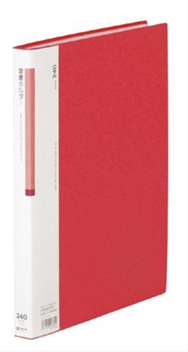 【送料無料・単価1082円・10セット】キングジム はがきホルダー 62 A4S 赤(10セット)