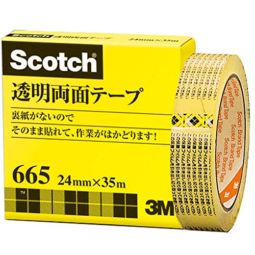 3M スコッチ 透明両面テープ 24mm×35m ライナーなし 紙箱入り 665-3-24(5セット)