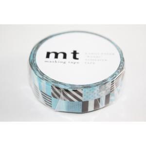 【単価117円・130セット】カモ井加工紙 マスキングテープ1P ミックス/ブルー MT01D122(130セット)