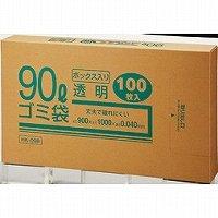 クラフトマン ゴミブ黒 透明 90LX100枚(5セット)