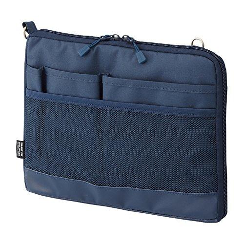 リヒトラブ バッグインバッグ スマートフィット アクタクト A5ヨコ ネイビー A7680-11(10セット)