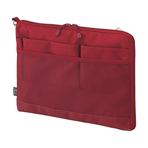 リヒトラブ バッグインバッグ スマートフィット アクタクト A4ヨコ レッド A7681-3(10セット)