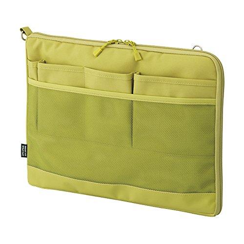 リヒトラブ バッグインバッグ スマートフィット アクタクト A4ヨコ イエローグリーン A7681-6(10セット)