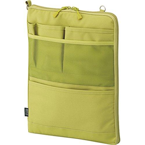リヒトラブ バッグインバッグ スマートフィット アクタクト A4タテ イエローグリーン A7683-6(10セット)