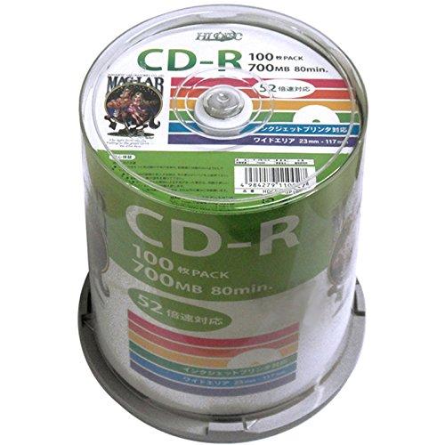 磁気研究所 CD-Rデータ用 HDCR80GP100(5セット)