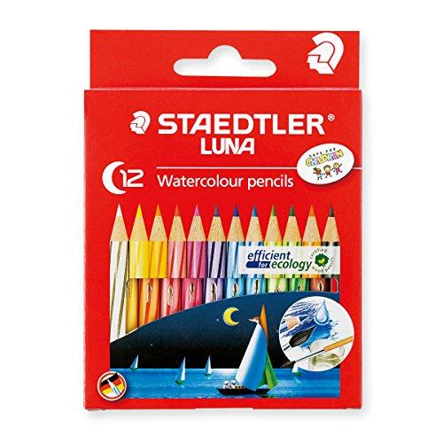 【単価300円・60セット】ステッドラー 水彩色鉛筆 ルナ 12色セット ショートタイプ 1371001C12(60セット)