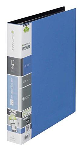 【送料無料・単価1510円・10セット】キングジム ショットドックス 名刺ホルダー 差替え式 青 36ー3SDアオ(10セット)
