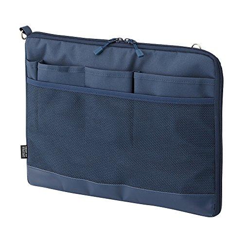 リヒトラブ バッグインバッグ スマートフィット アクタクト A4ヨコ ネイビー A7681-11(10セット)