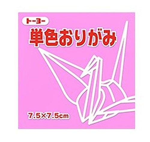 Toyo single color origami 休み 7.5CM124 068124 pink 送料無料 トーヨー 068124ピンク 600セット 単価84円 新品■送料無料■ 単色折紙7.5CM124