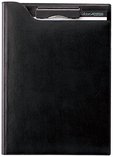 【送料無料・単価4521円・10セット】レイメイ クリップファイル A4 ブラック ZVF654B(10セット)