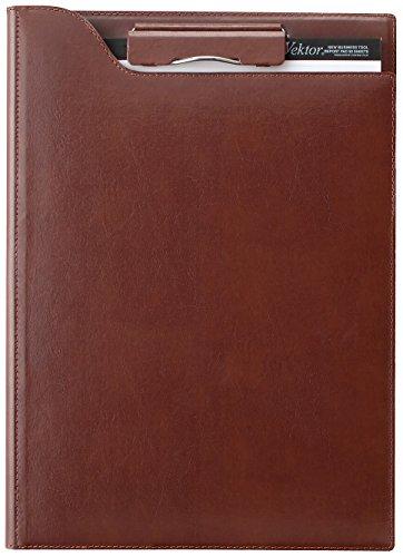【送料無料・単価4521円・10セット】レイメイ クリップファイル A4 ブラウン ZVF654C(10セット)