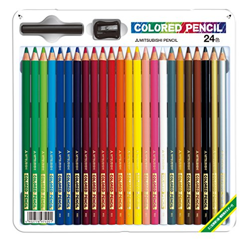 ミツビシ 三菱鉛筆 UNI 色鉛筆24色スタンダード K89024CSH(10セット)
