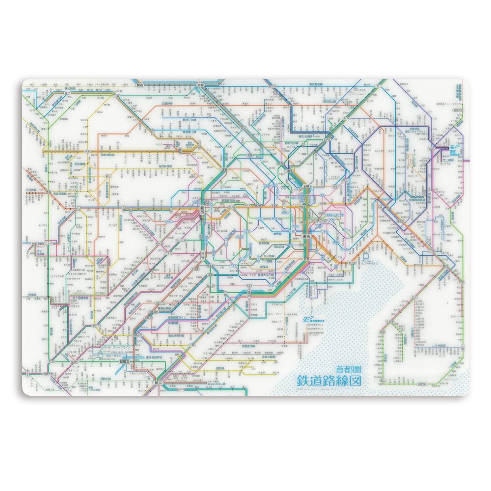 【単価233円・70セット】東京カート 鉄道路線図下敷き 首都圏 日本語 RSSJ(70セット)