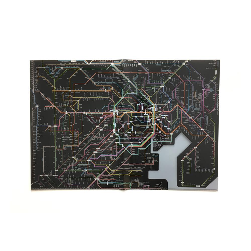 【単価311円・50セット】東京カートグラフィック 鉄道路線図 クリアファイル 首都圏 日本語 ブラック 見開きA3 RFSJB(50セット)