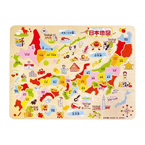 Debika wooden cognitive education puzzle Japanese 日本地図 木製知育パズル 宅送 デビカ 113004 4904901380048 予約 map