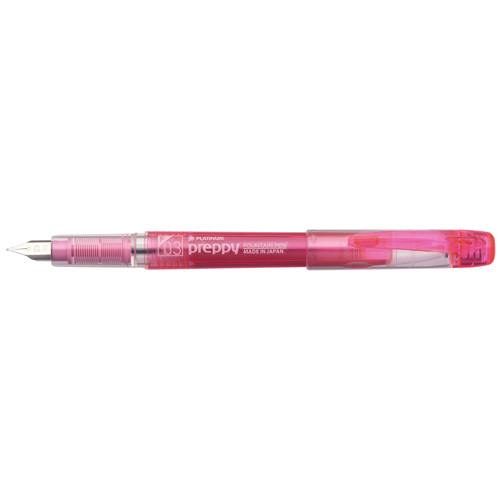 Platinum Pen pre-P fountain pen 2020A/W新作送料無料 small characters pink メーカー直売 PSQ-300#21-2 プラチナ万年筆 プレピー万年筆 送料無料 240セット 単価210円 ピンク PSQ-300#21-2 細字