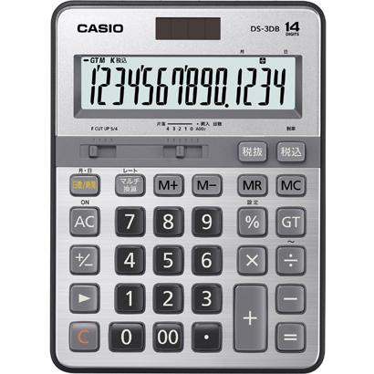 カシオ CASIO DS-3DB [本格実務電卓 14桁]