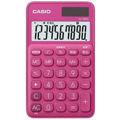 第一ネット 【送料無料・単価691円・80セット】カシオ 電卓 10桁 (ビビッドピンク)CASIO カラフル電卓 手帳タイプ SL-300C-RD(80セット), moncachette 86f723f2