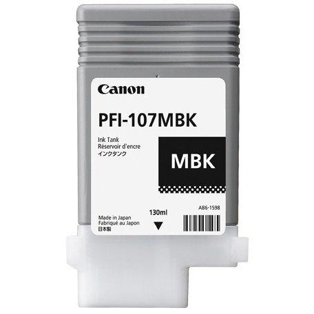 キヤノン CANON 6704B001 [大判プリンターimagePROGRAF用インクタンク 顔料マットブラック PFI-107 MBK 130ml]