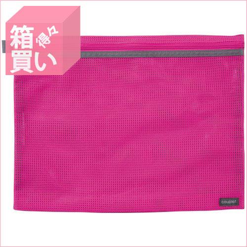 【箱買い商品 / 一箱100セット】セキセイ メッシュケースA4ピンク CP-3375-21 (納期優先の為単品詰合せの場合が御座います)