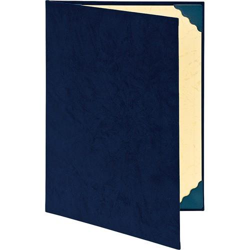 証書ファイル・透明コーナー貼付け/スエードタイプ A4判 紺 FSS-A4C-B ( 1冊 )/ ナカバヤシ(10セット)