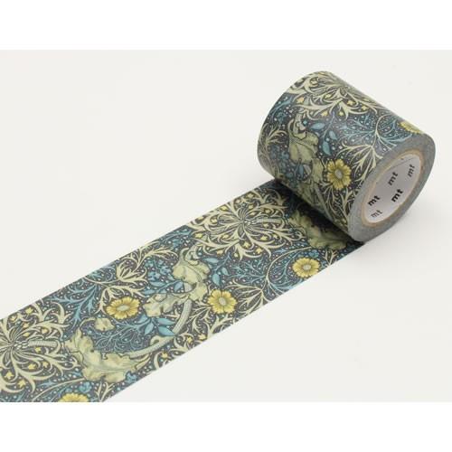 【送料無料・単価529円・30セット】カモ井加工紙 mt ウィリアム・モリス seaweed  マスキングテープ(30セット)