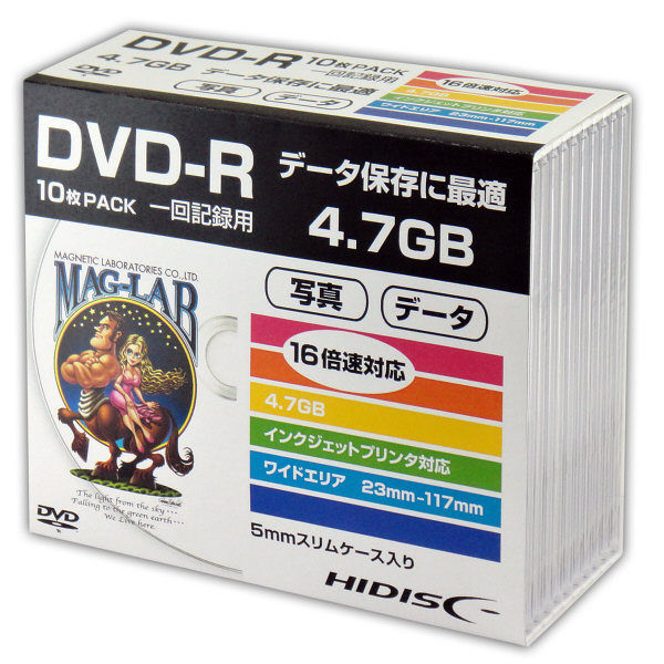 【送料無料・単価712円・30セット】磁気研究所 データ用DVD プラケース入り HDDR47JNP10SC 1パック(10枚入)(30セット)