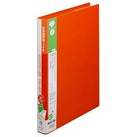 【送料無料・単価536円・80セット】キングジム 取扱説明書ファイル A4S 2632H オレンジ(80セット)