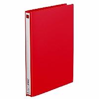【送料無料・単価189円・240セット】キングジム リングファイル エコノミ-A4 赤 A4 611アカ(240セット)