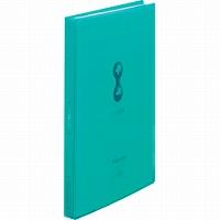 【送料無料・単価725円・80セット】キングジム クリアーファイル A4S ヒクタス (透明) 60P 7181-3T 緑(80セット)