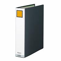 【送料無料・単価371円・120セット】キングジム キングファイル G A4S 975GX 黒(120セット)
