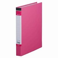 【送料無料・単価168円・400セット】キングジム リングファイルBF ピンク A4 603BFヒン(400セット)