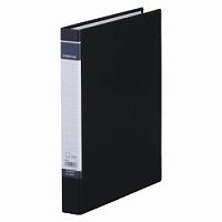 【送料無料・単価168円・400セット】キングジム DリングファイルBF 黒 A4 608BFクロ(400セット)