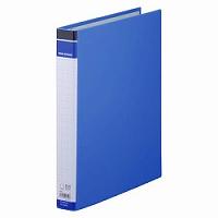 【送料無料・単価464円・100セット】キングジム リングバインダー BF 668BF A4S 青(100セット)