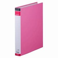 【送料無料・単価464円・100セット】キングジム リングバインダー BF 668BF A4S ピンク(100セット)