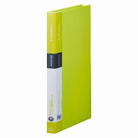 【送料無料・単価376円・160セット】キングジム クリアーファイル シンプリーズ A4S 40P 136SPW 黄緑(160セット)