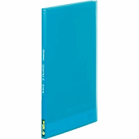 【送料無料・単価161円・300セット】キングジム クリアーファイル シンプリーズクリアーファイル(透明)20P 青 A4縦型 186TSPアオ(300セット)