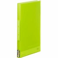 【送料無料・単価282円・160セット】キングジム クリアーファイル シンプリーズ 透明 A4S 40P 186TSPW 黄緑(160セット)