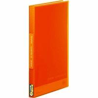 【送料無料・単価282円・160セット】キングジム クリアーファイル シンプリーズ 透明 A4S 40P 186TSPW オレンジ(160セット)