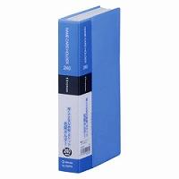 【送料無料・単価364円・120セット】キングジム 名刺ホルダー シンプリーズ コンパクト 32SPW 青(120セット)