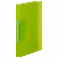 【送料無料・単価196円・250セット】キングジム リングファイル シンプリーズ(透明) 黄緑 A4 641TSPキミ(250セット)