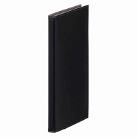【送料無料・単価564円・80セット】キングジム カードホルダー レザフェス 1911LF 黒(80セット)