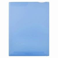 【送料無料・単価156円・360セット】キングジム スーパーハードホルダー2ポケット透明 青 A4S 747Tアオ(360セット)