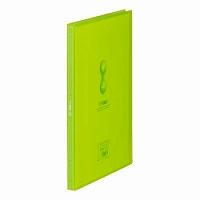【送料無料・単価482円・90セット】キングジム クリアーファイル ヒクタス 透明 A4S 40P 7181TW 黄緑(90セット)