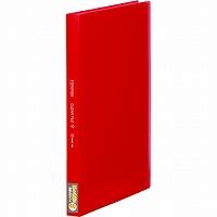 【送料無料・単価282円・160セット】キングジム クリアーファイル シンプリーズ 透明 A4S 40P 186TSPW 赤(160セット)