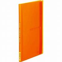 【送料無料・単価371円・120セット】キングジム クリアーファイル シンプリーズ サイドイン A4S 40P 187TSPW オレンジ(120セット)