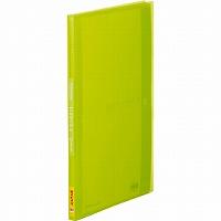 【送料無料・単価371円・120セット】キングジム クリアーファイル シンプリーズ サイドイン A4S 40P 187TSPW 黄緑(120セット)